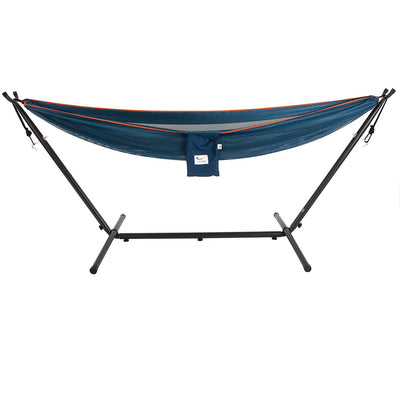 Vivere Polyester Mesh Double Hammock combo: Blue/Orange