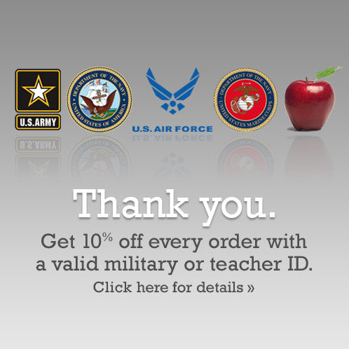 Military Discount, Teacher Discount