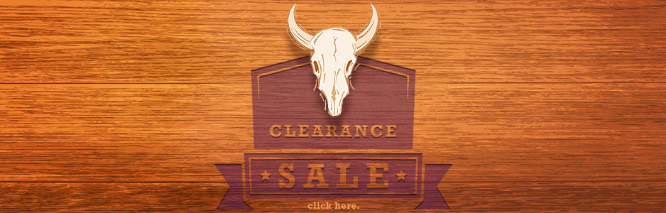 Clearance Sale - Wooden background with steer skull