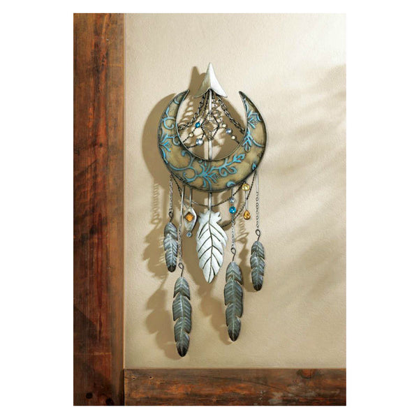 Crescent Moon Dream Catcher Wall Decor