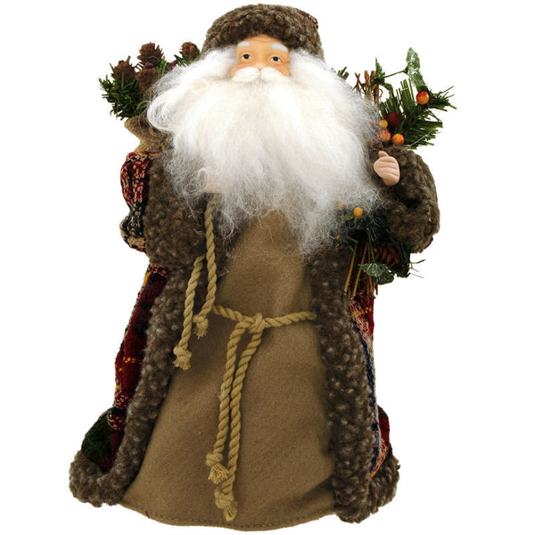 12 Inch Woodland Santa Tree Topper 1139760
