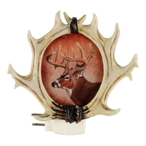 Faux Whitetail Deer Antlers Night Light 1305