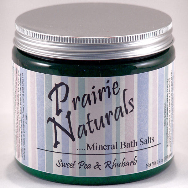 Prairie Soap Co. Sweet Pea Rhubarb Spa Mineral Bath Salts HB1054