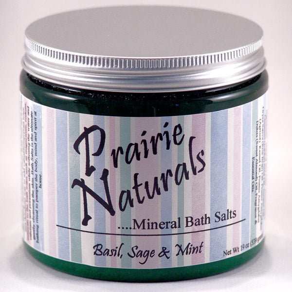 Prairie Soap Co. Basil Sage & Mint Spa Mineral Bath Salts HB1055