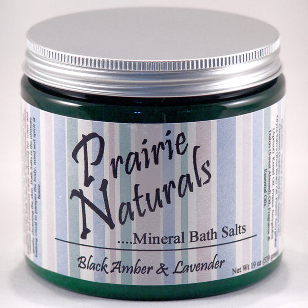 Prairie Soap Co. Black Amber & Lavender Spa Mineral Bath Salts HB1056