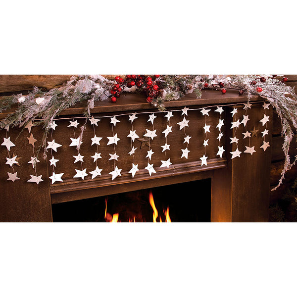 Americana White Dangling Star Garland 31621