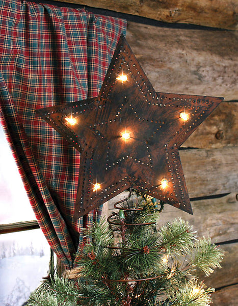 Rusty Star Insert-A-Light Christmas Tree Topper X44253