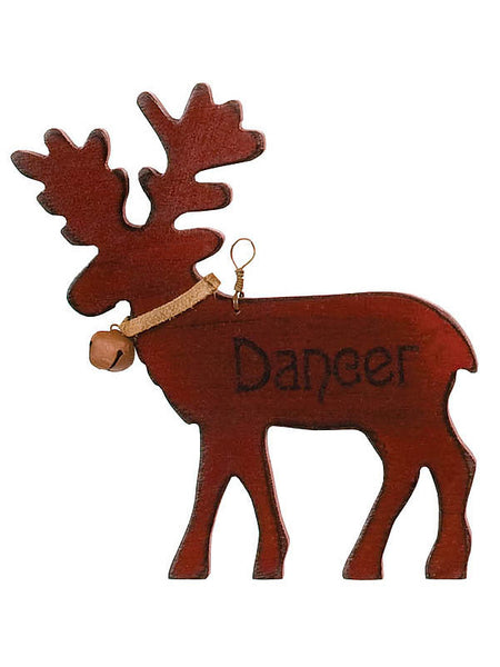 Wooden Dancer Reindeer Christmas Ornament X44627