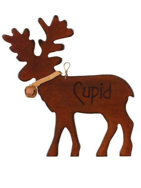 Wooden Cupid Reindeer Christmas Ornament X44627