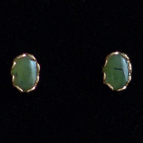 Wyoming Jade Tiny Oval Earrings EP67