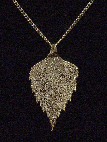 Birch Gold Leaf Necklace CJBIR