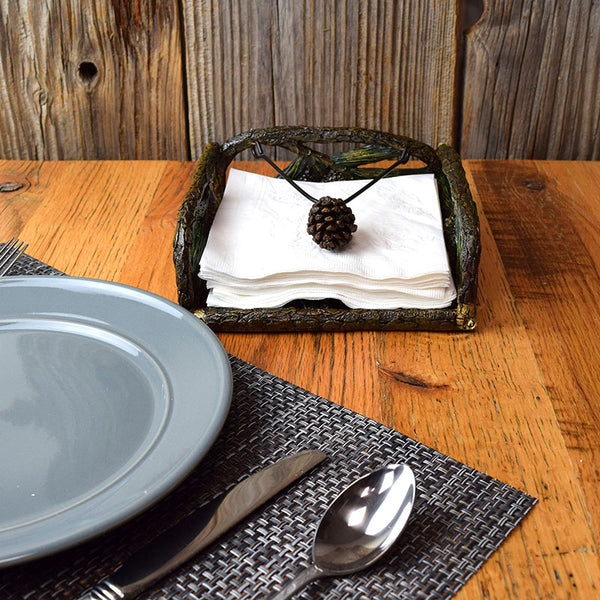 Pine Cones Napkin Holder