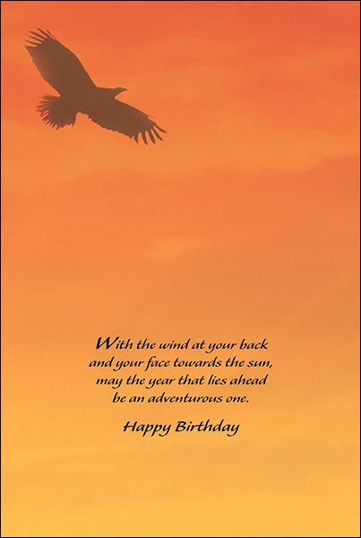 Leanin' Tree Indian Brave With The Wind At Your Back Birthday Card