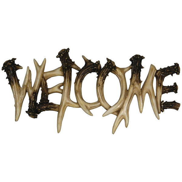 Faux Deer Antler Welcome Sign 1382