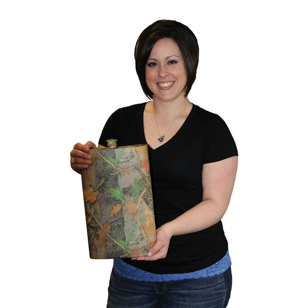 128 Oz Giant Camouflage Flask