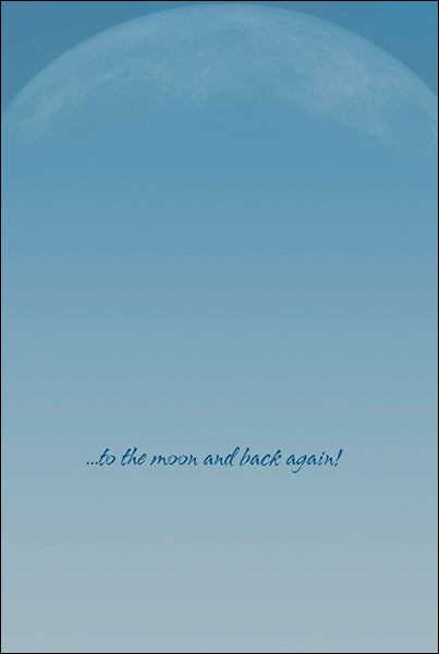 Leanin' Tree Love You To The Moon and Back Greeting Card