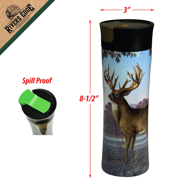 Fall Deer Scene 16 Oz Insulated Travel Mug