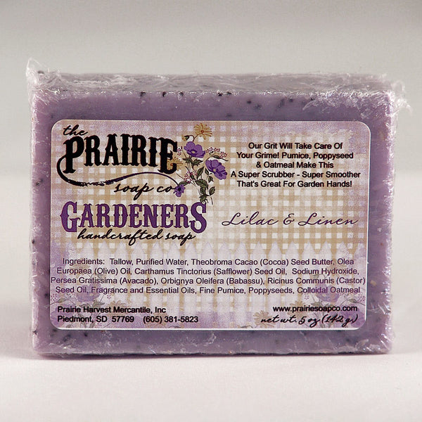 Prairie Soap Co. Lilac & Linen Gardeners Scrubby Hand Soap HB1043