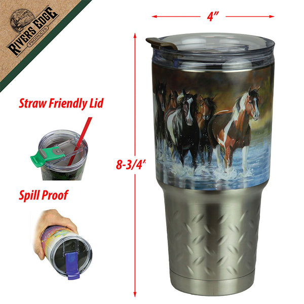 Rush Hour Horses 32 Oz Stainless Steel Insulated Mug