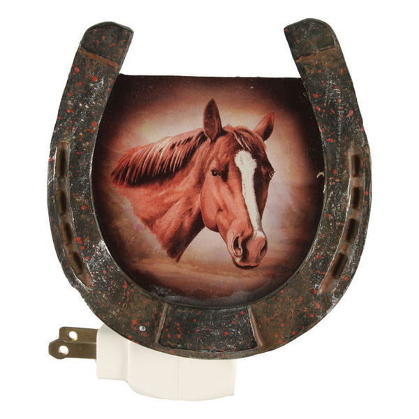 Western Horseshoe Frame Night Light 1311