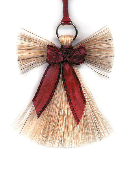 Cowboy Collectibles Natural Horse Hair Angel Christmas Ornament HCOA