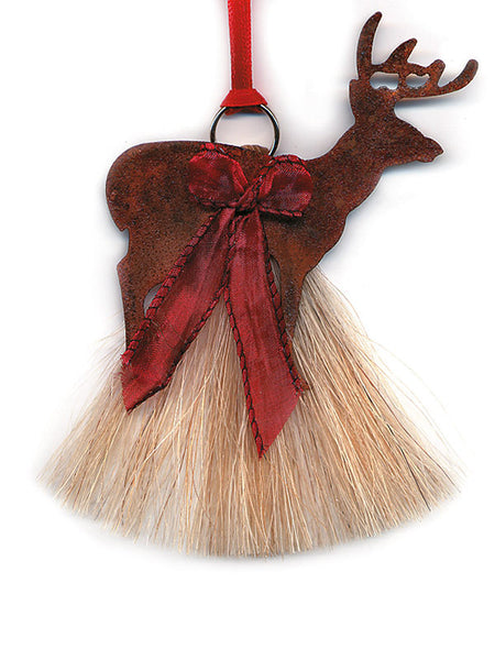 Cowboy Collectibles Natural Horse Hair Deer Christmas Ornament HCOD