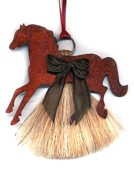 Cowboy Collectibles Natural Horse Hair Pony Christmas Ornament HCOP