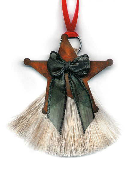 Cowboy Collectibles Natural Horse Hair Star Christmas Ornament HCOS