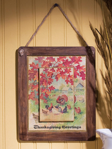 Thanksgiving Postcard Reversible Chalkboard X45227