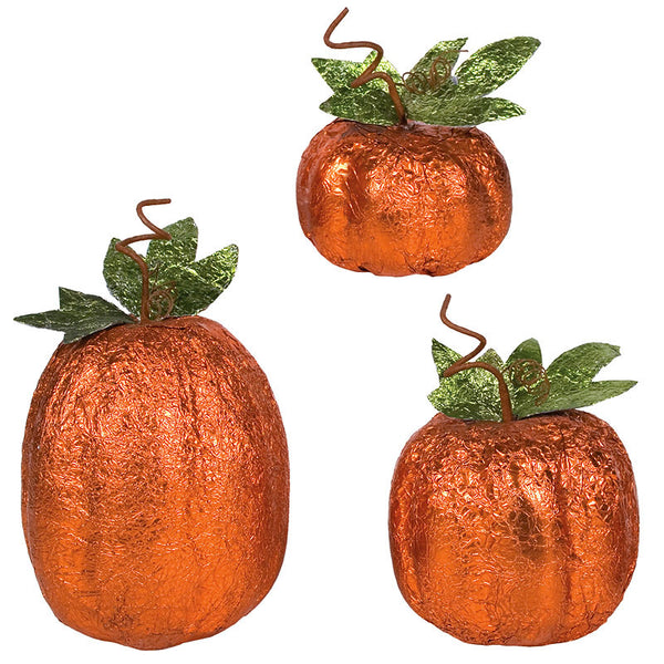 Small Foiled Fall Pumpkins 33686