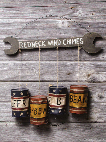 Large Redneck Wrench & Beer Can Windchimes 22071
