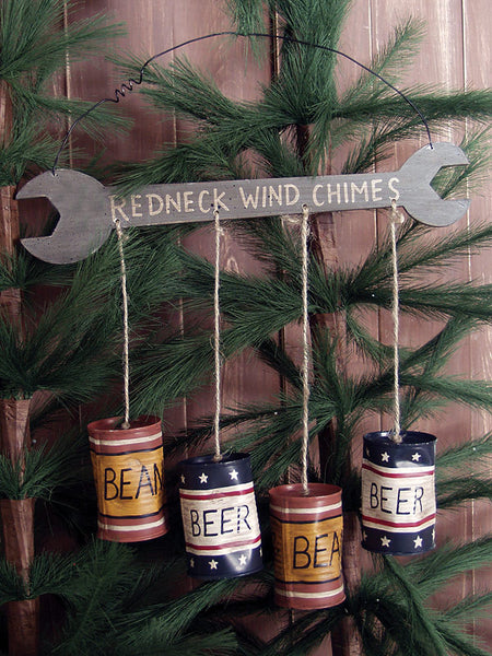 Small Redneck Wrench & Beer Can Windchimes 25355