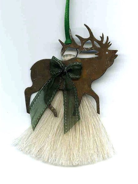 Cowboy Collectibles Natural Horse Hair Elk Christmas Ornament HCOE