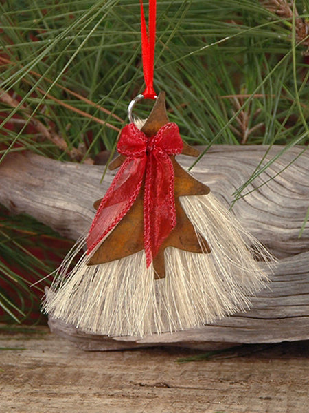 Cowboy Collectibles Natural Horse Hair Christmas Tree Ornament HCOT