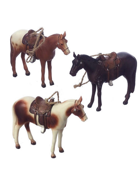 Horses with Saddles Christmas Ornaments 953617