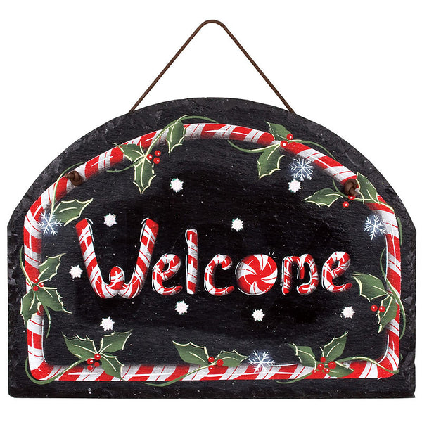 Peppermint Park Collection Welcome Slate X45374