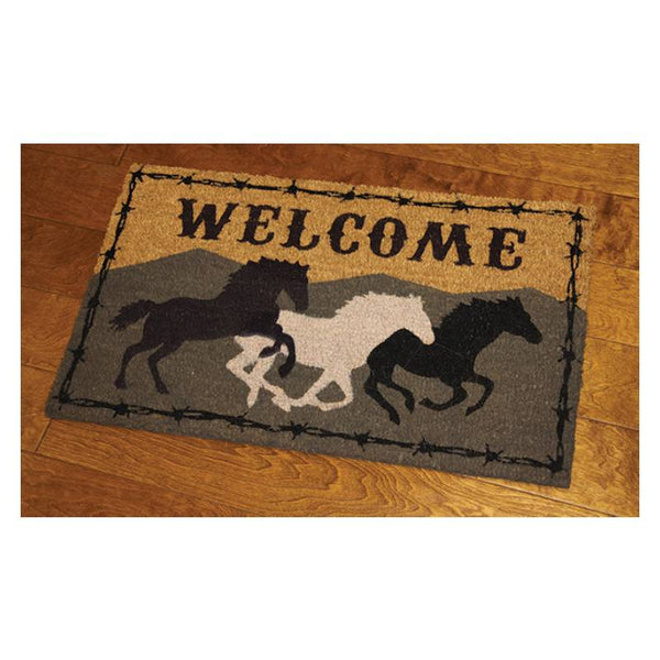 Horses Coir Welcome Mat