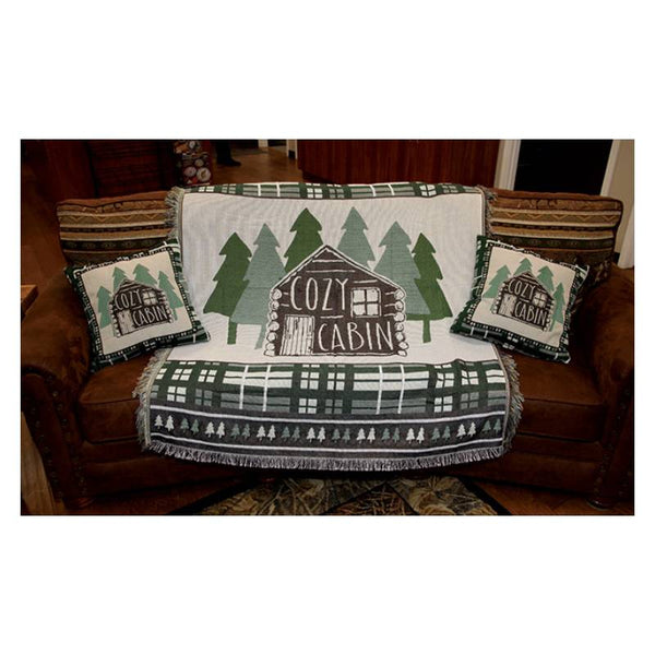 Log Cabin Tapestry Pillows