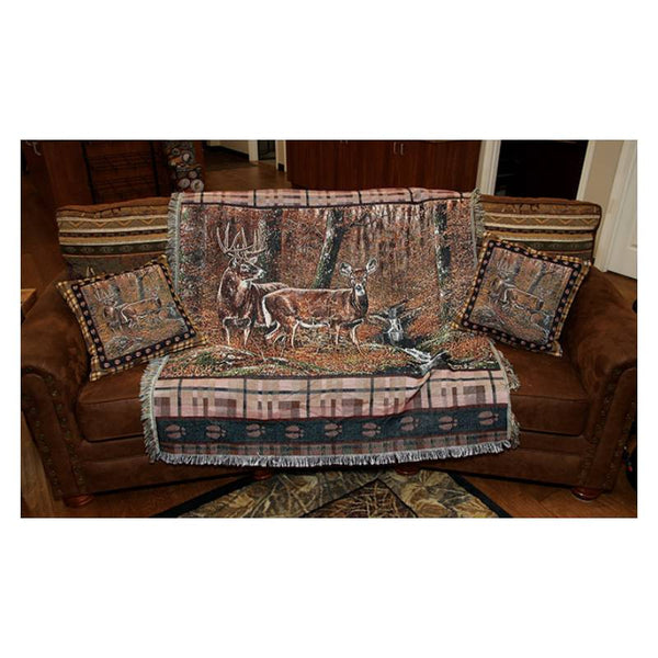 Fall Deer Tapestry Pillows
