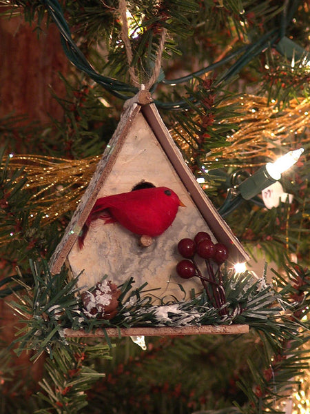Woodland Bird House Christmas Ornament 1416590B