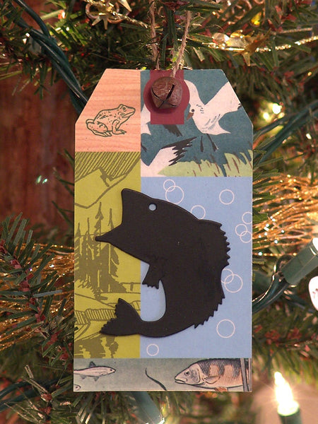 Big Mouth Bass Gift Card Christmas Ornament X0219