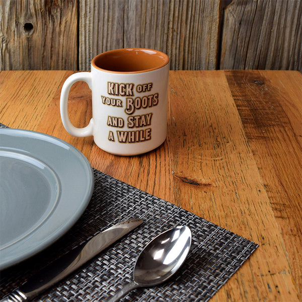 Kick Off Your Boots And Stay Awhile Ceramic Mug