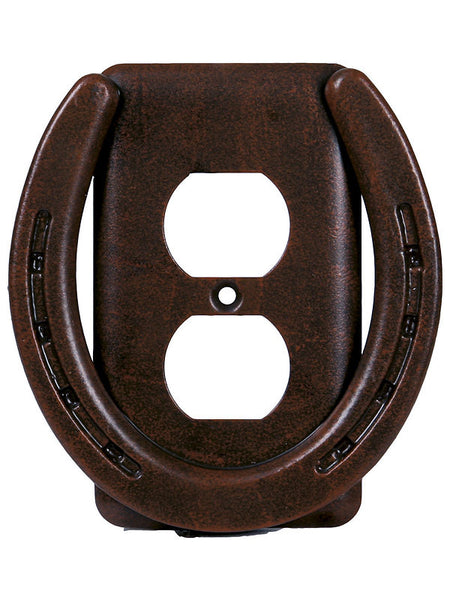 Rusty Horseshoe Single Outlet Cover 1297