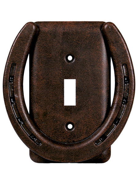 Rusty Horseshoe Single Light Switch Plate 1298