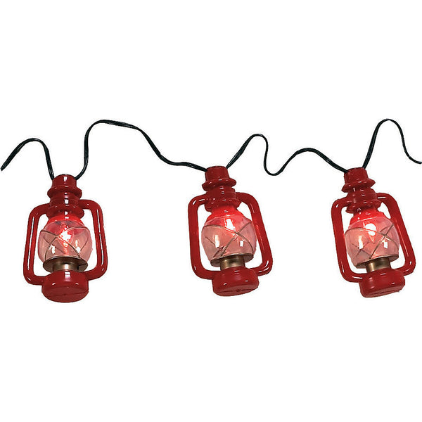 Giant Red Lantern Party Lights with Flicker Bulbs 434