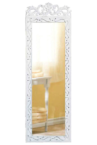 Vintage Distressed White Wall Mirror 33666