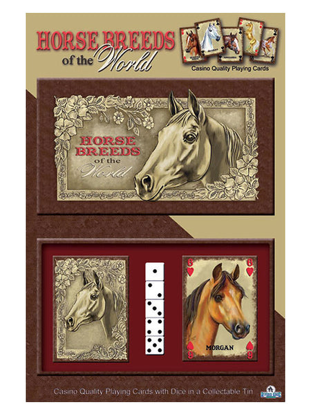 Horse Breeds of the World Casino Quality Playing Cards 1573