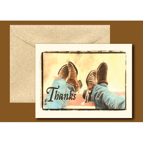 Wild West Boots Thank You Cards TY98003