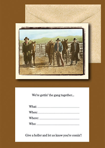 Wild West Getting the Gang Together Invitations IN04028