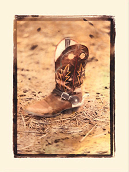 Wild West Cowboy Boot Note Cards NC98001